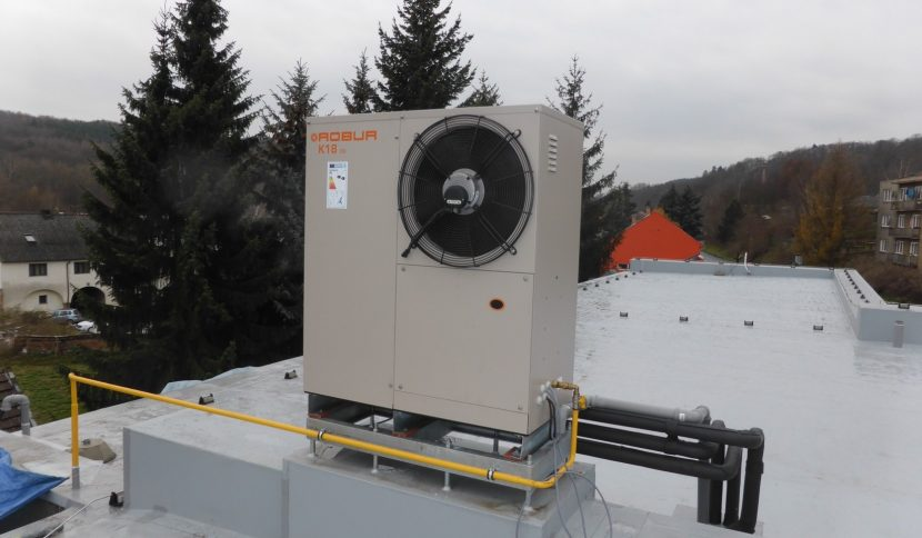 Gas powered heat pump for domestic properties