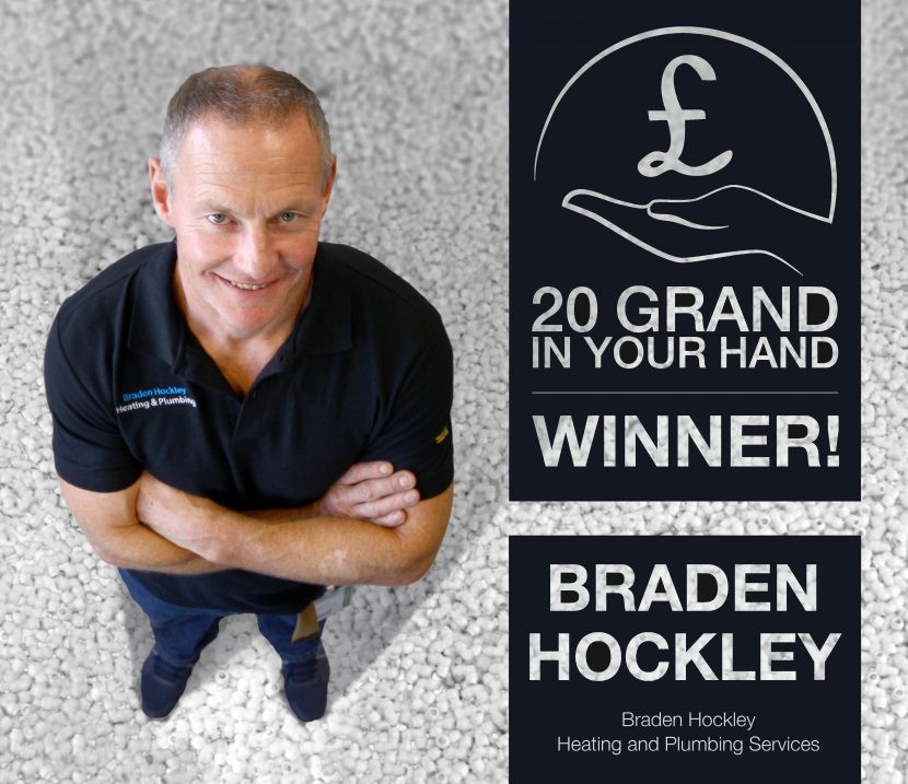 Hard working plumber lands the big money prize