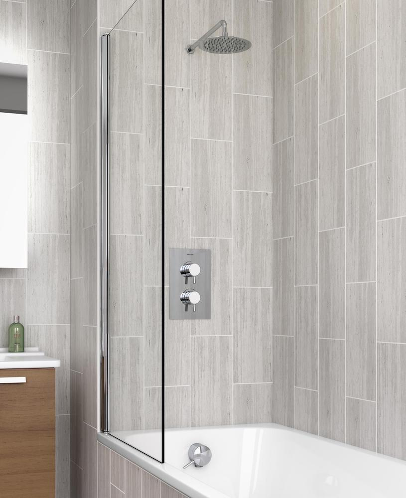Showers for the slim and sleek bathroom