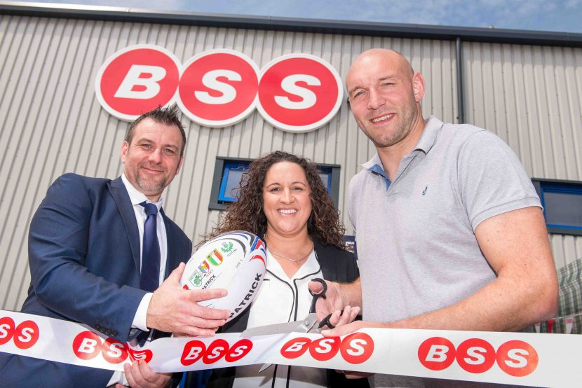 Rugby stars lend support to opening of new BSS branch