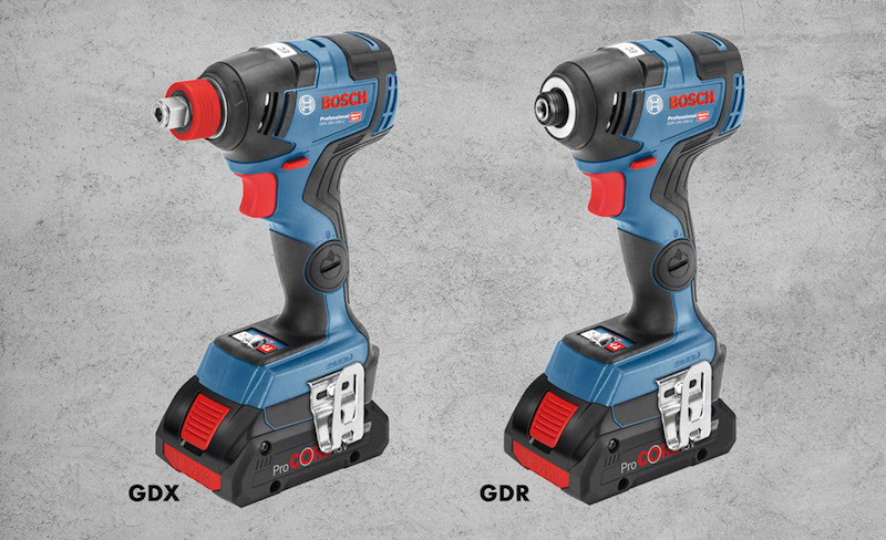 New cordless impact drivers from Bosch for professionals