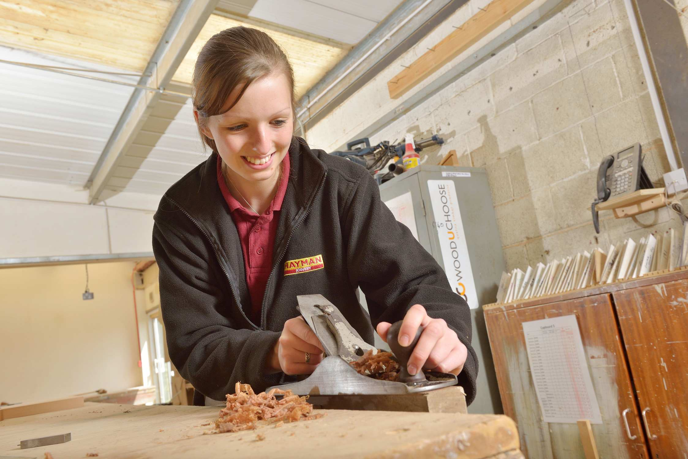 Nadia Connabeer, apprentice joiner, Ivybridge, Devon.