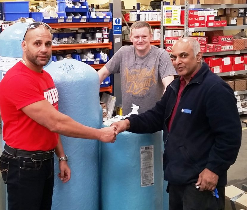 Heating products help raise cash for charity