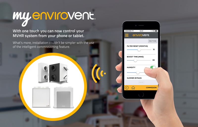 App capability extended across energisava MVHR