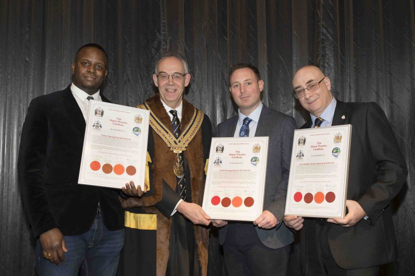 Recognition for three new Master Plumbers