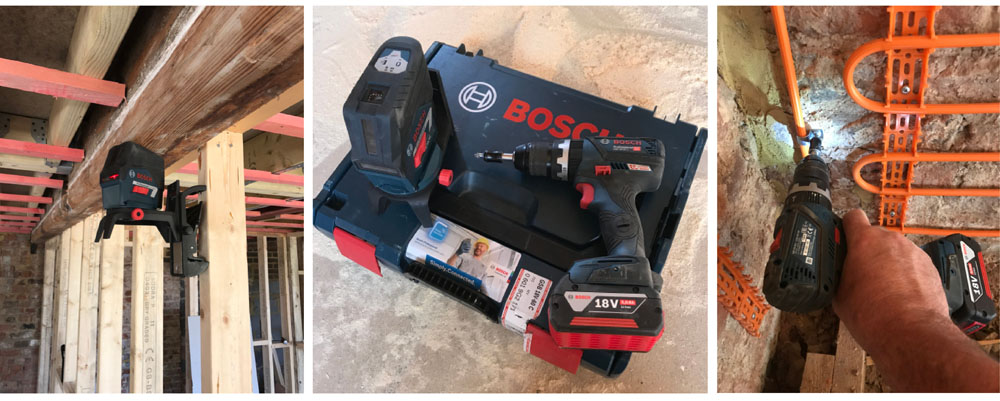 Installer review of Bosch combi drill and laser level