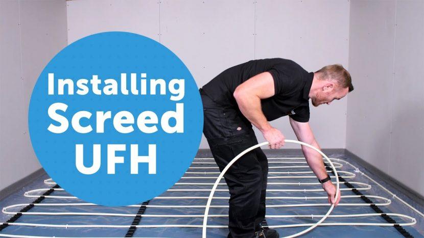 Installing screed underfloor heating – Nu-Heat