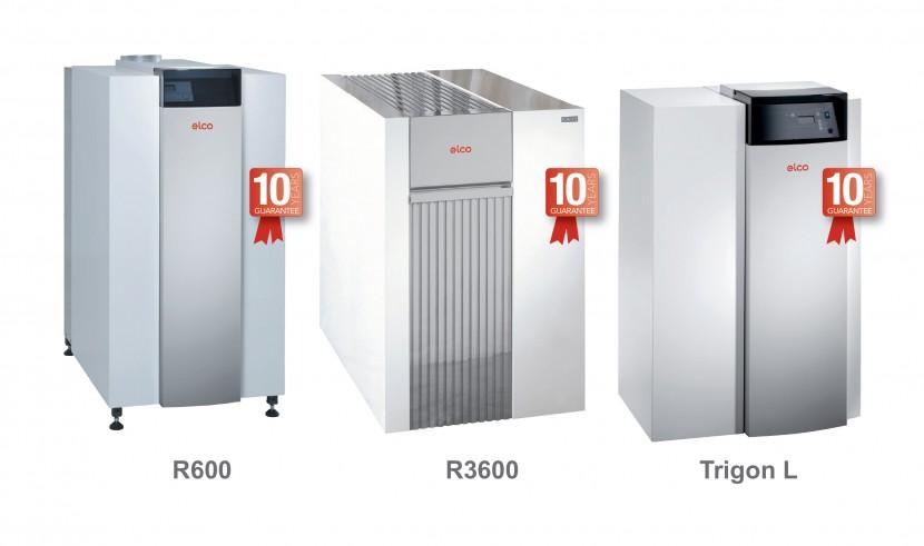 Ten year guarantee on floor-standing boilers