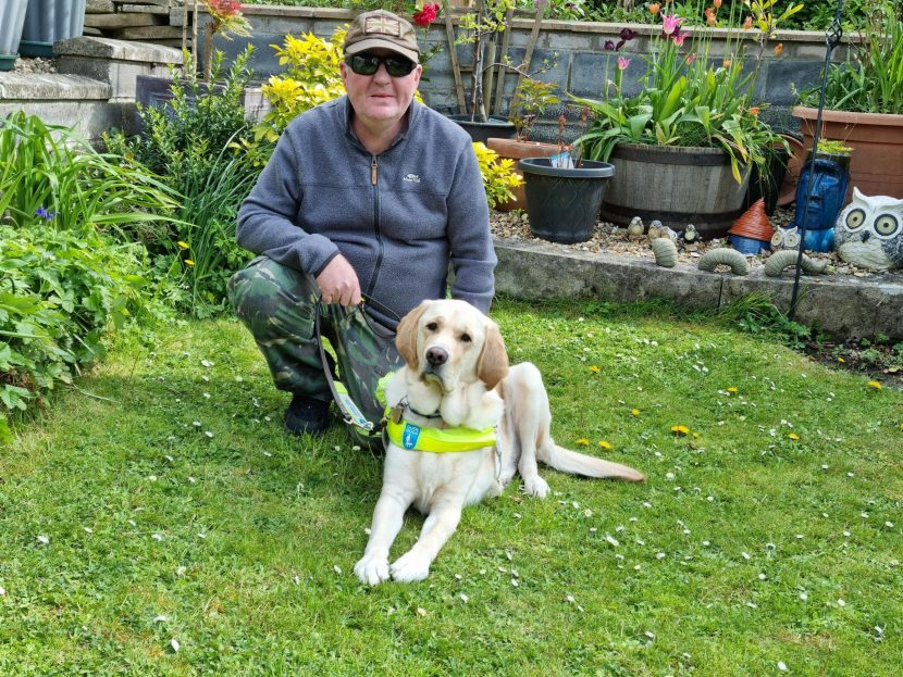 An ex-plumber and his guide dog