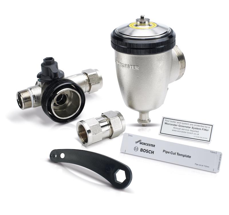 Brass system filter from Worcester Bosch