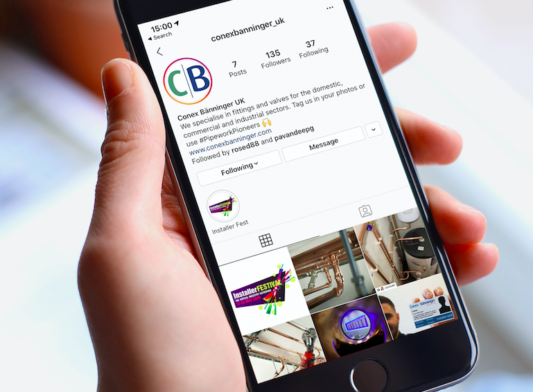 Conex Bänninger connects with installers on Instagram