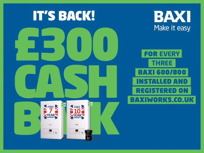 Return of the Baxi cashback scheme