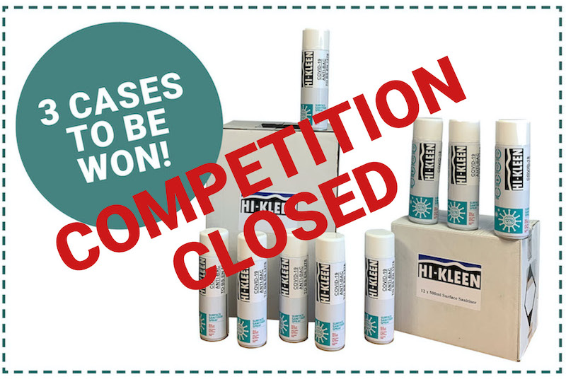 Win a case of sanitising spray!