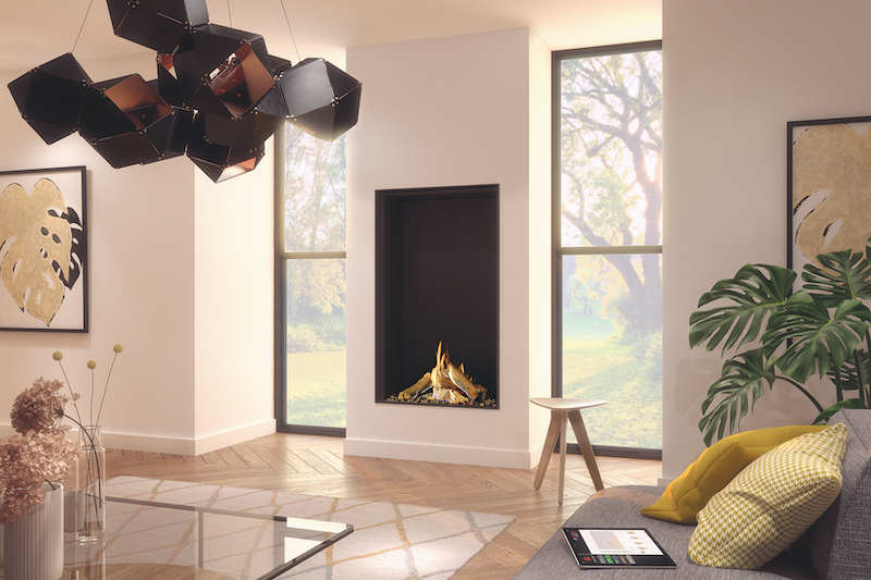 Luxury gas fires now in extra tall options