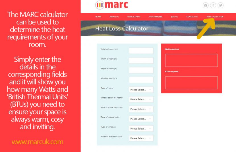New online heat calculator for radiators