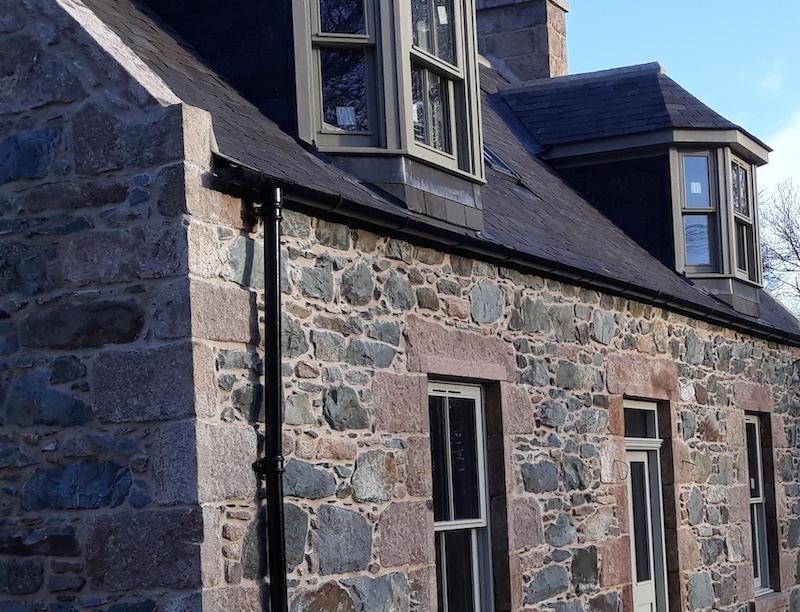 Aluminium rainwater solution on heritage property
