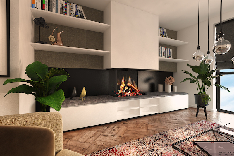 Electric fire that might be mistaken for the real thing
