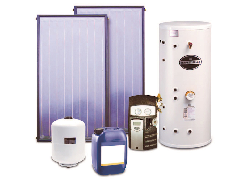 Solar package includes twin coil hot water cylinder