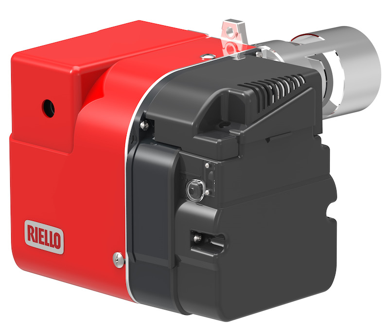 Adjustable head on Riello burner for domestic applications
