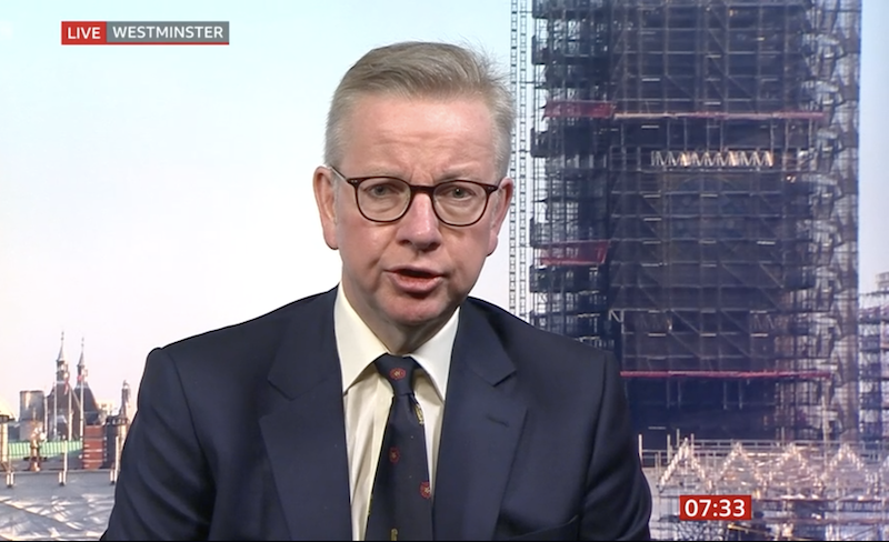 Gove says emergency plumbing work is 'appropriate'