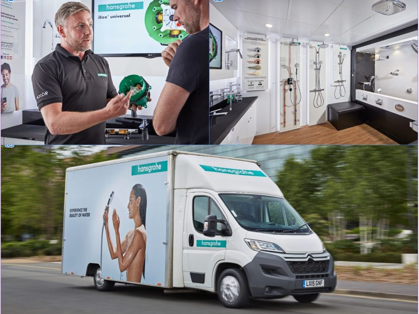 Shower training vehicle takes to the road