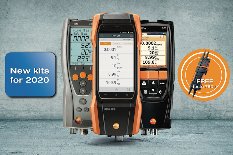 Testo releases new flue gas analyser kits and free voltage tester offer