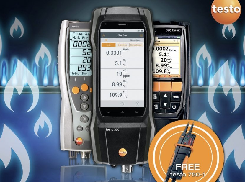 Free voltage tester with Testo analysers