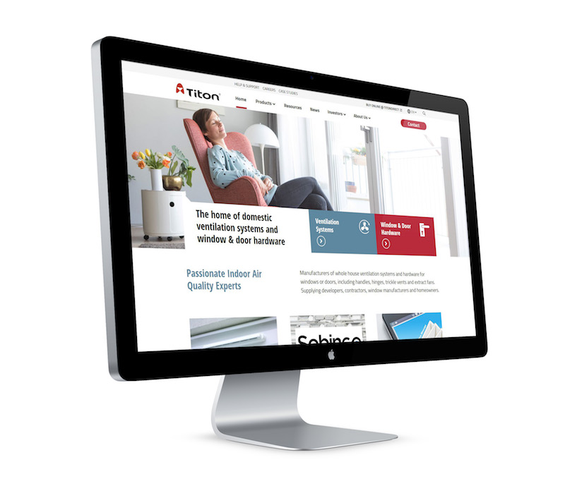 Titon unveils new customer focused website