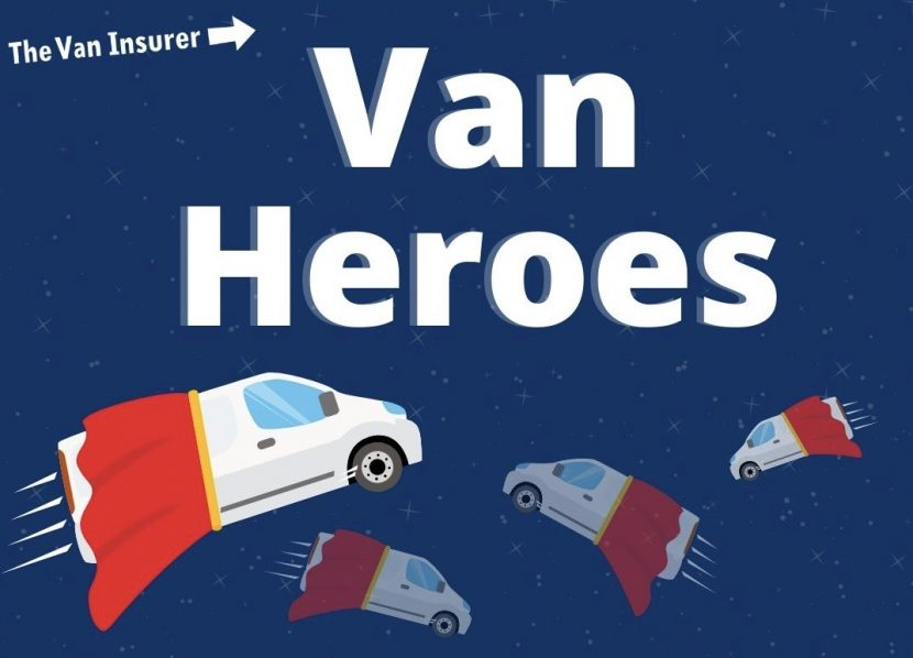 Prize draw for van-driving heroes
