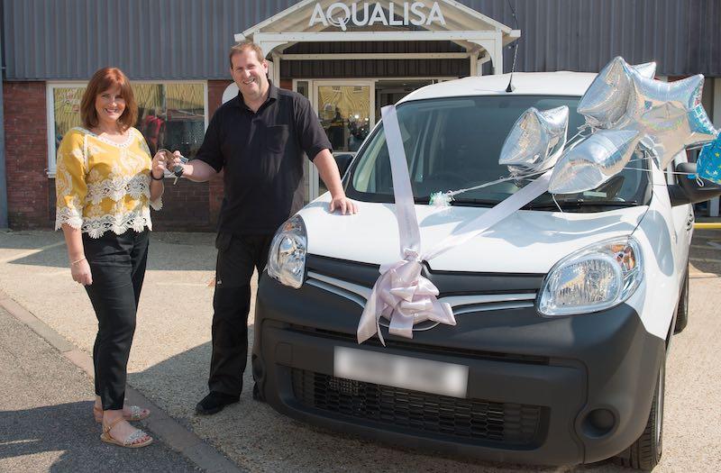Beckenham plumber wins van from Aqualisa
