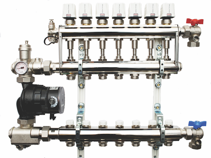 Manifold for mixed supply