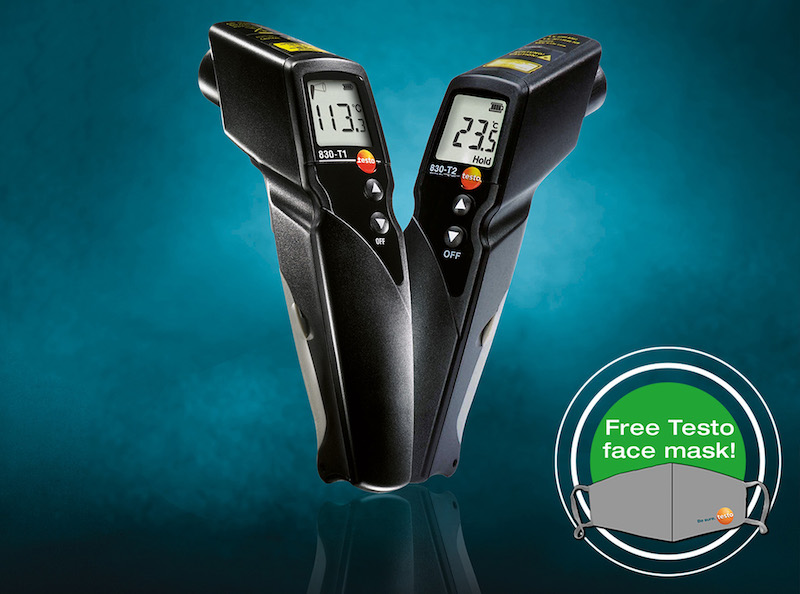 Free mask with purchase of IR thermometers